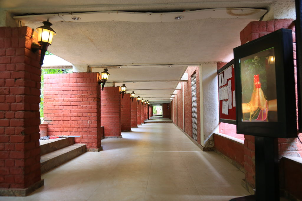 Entry passage at Ahmedabad Gymkhana