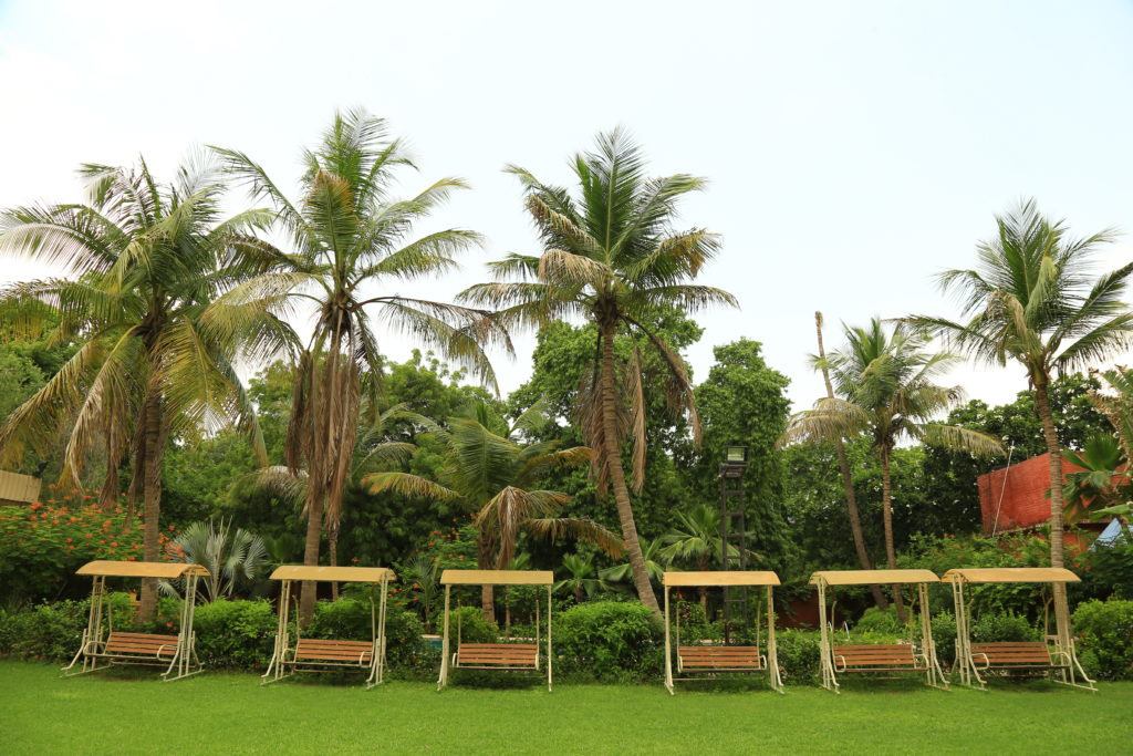Garden and swings at Ahmedabad Gymkhana